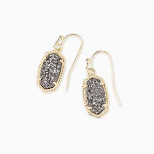 Kendra Scott Lee Gold Drop Earrings In Platinum⭐️